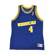 【CHAMPION】NBA WARRIORS WEBBER BASKETBALL JERSEY [BLUE:XL(48)]/チャンピオン