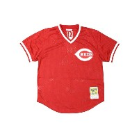 MITCHELL&NESS AUTHENTIC MESH BP JERSEY (CINCINNATI REDS 1983/JOHNNY BENCH/No.5: RED)ミッチェル&ネス...