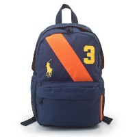 POLO RALPH LAUREN ポロ ラルフローレン リュック 950016 NAVY/ORANGE BANNER STRIPE BACKPACK MD
