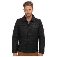 Vince Camuto Carbon Coated Quilted Shirt Collar Jacket