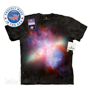 The Mountain Tシャツ The Smithsonian Starburst Galaxy Messier 82 (The Smithsonian 宇宙 ギャラクシー メンズ 男性用...