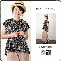 ☆FINAL SALE 50%OFF☆★楽天限定★【ROSE BUD】FLOWER PRINT SLVLESS BLOUSE【HEART MARKET・ハートマーケット】