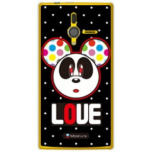 【送料無料】 Love Panda ホワイトドット (クリア) design by Moisture / for PANTONE 6 200SH/SoftBank 【SECOND SKIN...