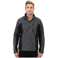 IZOD Softshell with Quilted Mini Ripstop Front Hooded