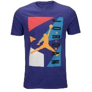 Jordan Retro 7 Blocked T-Shirtメンズ Light Court Purple Heather/Laser Orange Tシャツ ジョーダン レトロ7