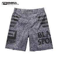 リバーサル REVERSAL 正規販売店 メンズ ショートパンツ BLACK SPORTS FIGHT SHORTS rvat16aw007 ATHLETIC HEATHER GRAY
