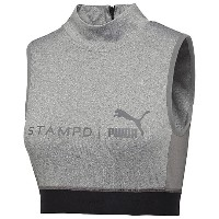 プーマ PUMA X STAMPD CROP TOP ウィメンズ Medium Gray Heather