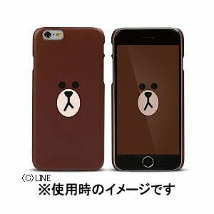 I6S06-16A706-19【税込】 Fantastick iPhone 6/6s用 ハードケース Line Friends Graphic (Face) ブラウン [I6S0616A70619]...