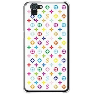 【送料無料】 Monogram ホワイト (クリア) design by ROTM / for AQUOS PHONE SERIE SHL23/au 【SECOND SKIN】shl23 カバー...