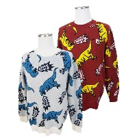 【OUTLET】PEARLY GATES・パーリーゲイツJURASSIC POP NO FORE T-REX メンズセーター【15AW】【TREX】 =JAPAN MADE= 5270005