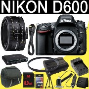 Nikon D600 24.3 MP CMOS FX-フォーマット デジタル SLR Camera (Body Only) + Nikon 50mm f/1.8D AF Nikkor レンズ + EN-EL15 リプレイス...