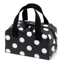 保温・保冷バッグ polka dot large(broadcloth・black).