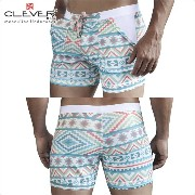 【CLEVER2016-2】 CLEVER クレバー Zulu Swimsuit Trunk Ref,0612 CLEVER スイムパンツ 【男性下着 水着 ボクサー メンズ Men's ショート...