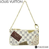 【LOUIS VUITTON/ルイ・ヴィトン】ダミエ・アズール ポシェット・ミラMM N63078 【中古】≪送料無料≫