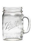 mj-16011 24oz(710ml) クリア (ボール) Ball メイソンジャー Ball Drinking Mason Jars with Handle【16011】 DRINKKING MUG 24oz 710ml マグ...