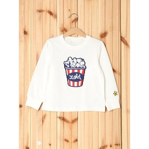 【SALE/35%OFF】X-girl Stages L/S TEE PATCHED POPCORN(4T~7T) エックスガールステージス カットソー【RBA_S】【RBA_E】【送料無料】