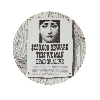 Fornasetti グラフィックプリント 皿