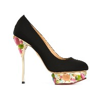 Charlotte Olympia - Dolly パンプス - women - シルク/レザー/glass - 39