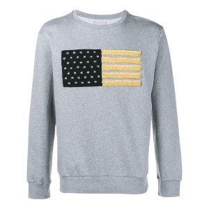 Palm Angels - Embroidered Flag Sweatshirt - men - コットン - M