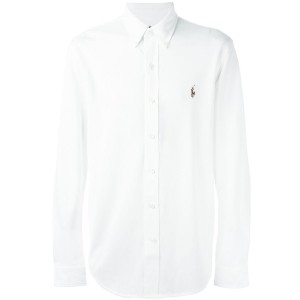 Polo Ralph Lauren - embroidered logo shirt - men - コットン - XL