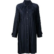 Pleats Please By Issey Miyake pleated lightweight coat