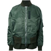 Sacai Luck zip up bomber jacket