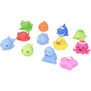 Click N' Play Assorted Colorful Bath Squirters (12 Pack)