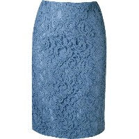 Martha Medeiros - lace pencil skirt - women - シルク/アセテート - 38