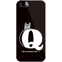 【送料無料】 letter&cat ブラック Q (ソフトTPUクリア) design by PansonWorks / for iPhone SE/5/SoftBank 【SECOND SKIN...