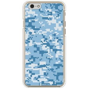 【送料無料】 DIGITAL camouflage ブルー (クリア) design by Moisture / for iPhone 6s/Apple 【SECOND SKIN】iphone6s...