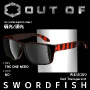 OUT OF (アウトオブ) サングラス SWORDFISH W4S1009 Red Transparent THE ONE NERO 偏光/調光【RCP】