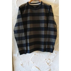 OUT OF SIGHT/BORDER L/S POCKET T BLACKxOLIVE