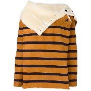 Mes Demoiselles striped shearling jacket