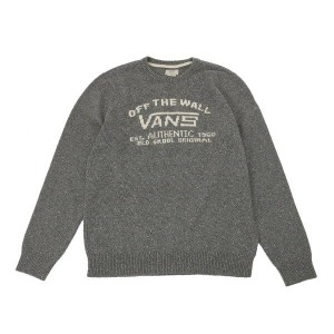 【VANSアパレル】 ヴァンズ スウェット REEDLEY VN0A2YO5PWT 16FA Pewter