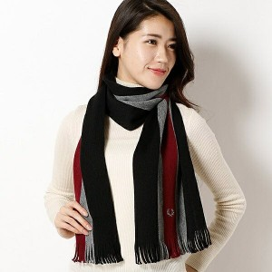 【16AW/ユニセックス】WARP KNIT SCARF/フレッドペリー(雑貨)(FRED PERRY)