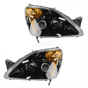 ホンダ CR-V ヘッドライト Headlight Black Bezel Performance Projector Style RH LH Pair Set for 02-04 CR-V...
