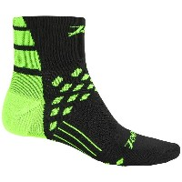 ズート Zoot Sports メンズ 自転車 ソックス【TT Cycling Socks - Quarter Crew】Black/Flash