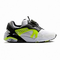 プーマ DISC BLAZE ELECTRIC メンズ Puma White-Puma Black-Safety Yellow