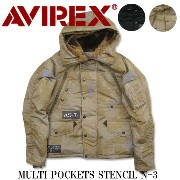 AVIREX アヴィレックス MULTI POCKETS STENCIL N-3 6162147