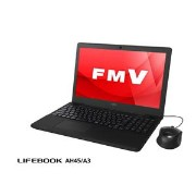 FMVA45A3B【税込】 富士通 15.6型ノートパソコン FMV LIFEBOOK AH45/A3 シャイニーブラック (Office Home&Business Premium 付...
