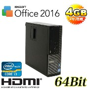 中古パソコン DELL 790SF Core i3 2100 3.1GHz /メモリ4GB /DVD-ROM /HDD250GB /KingSoftOffice /HDMI内蔵GeForce ...
