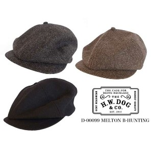 THE H.W.DOG & co. ドッグ MELTON B-HUNTING メルトン キャスケット 3色(BLACK/C.GREY/BROWN)