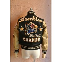 ★WHITESVILLEホワイツビル★Full Decoration 30oz WOOL MELTON Award Jacket『Brockton FootBall CHAMPS』WV1368230o...