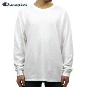 チャンピオン CHAMPION 正規品 メンズ 長袖Tシャツ L/S TEE T2229 Cotton Long Sleeve Tee 045-WHITE C logo on left sleeve