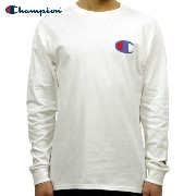 チャンピオン CHAMPION 正規品 メンズ 長袖Tシャツ L/S TEE T2229P Cotton Long Sleeve Tee 045-WHITE #549506 PATRIOTIC C...