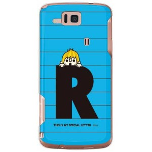【送料無料】 letter&boy ブルー R (クリア) design by PansonWorks / for AQUOS PHONE CL IS17SH/au 【SECOND SKIN】au...