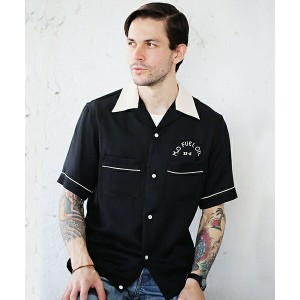【MROLIVE(ミスターオリーブ)】M-7153-VINTAGE RAYON TWILL /MO FUEL SHORT SLEEVE BOWLING SHIRT シャツ
