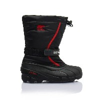 ★SOREL 〔ソレル ジュニアスノーブーツ〕Youth Flurry NY1885/015 〔BLACK BRIGHT RED〕〔z〕