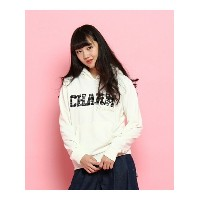 【SALE/34%OFF】PINK-latte チェックロゴパーカー ピンク ラテ カットソー【RBA_S】【RBA_E】