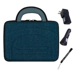 "Hard ナイロン Cube Carrying ケース with ハンドル (Denim) For Toshiba Encore WT8 8"" Tablet + Car USB Charger..."